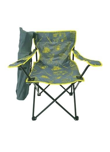 Bofigo Bofigo Kamp Sandalyesi Katlanır Sandalye Bahçe Koltuğu Piknik Plaj Balkon Sandalyesi Desenli Gri